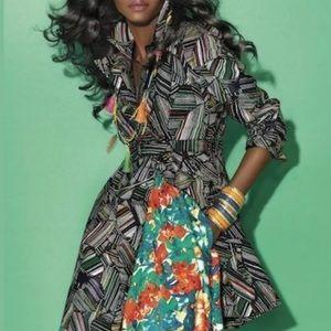 Duro Olowu Trench Coat, multi color Cotton, Size S